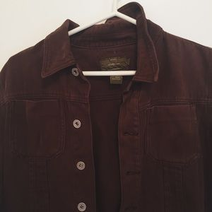 Brown Calvin Klein Button up Jacket